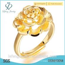 Prix de gros bijoux fantaisie indienne bague de mariage plaqué or 18 carats