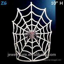 Venta al por mayor de cristal gran araña de Halloween de Halloween con máscara de araña Web