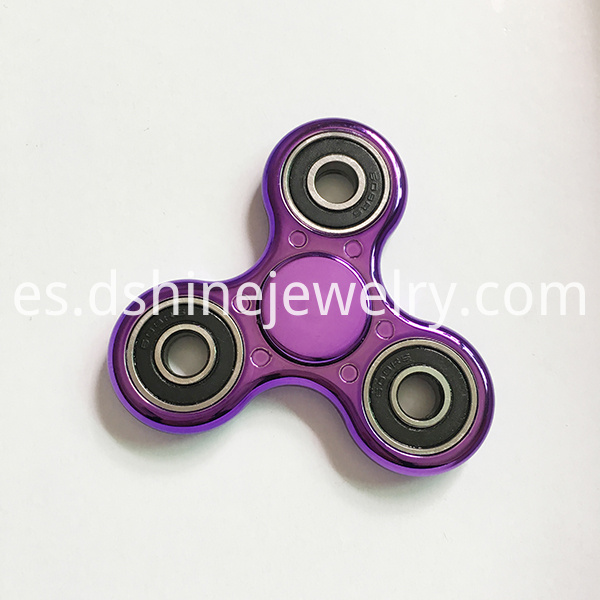 metallic hand spinner
