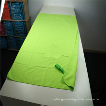 mejor venta multifuncional gamuza microfiber deportes playa / viaje / gimnasio toalla para venta por mayor