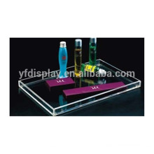 customized design acrylic serving tray /high quality hot sale acrylic tray for hotel and restaurant made in China low price
