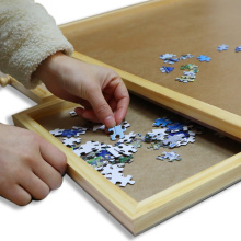 EASTOMMY  Wooden Puzzle Plateau Puzzle Storage System