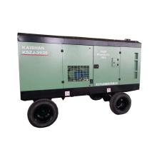 China factory 110kw 350cfm 14.5bar portable diesel screw air compressor for sale in sri lanka