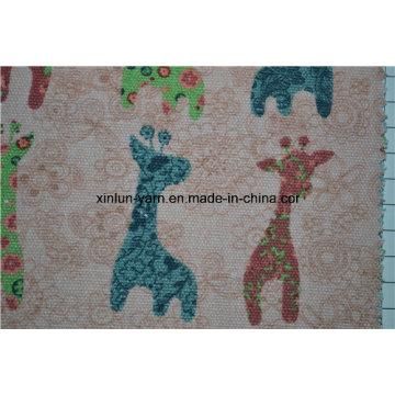 Tela de linho crua natural de Hudnred da roupa animal dos miúdos da impressão