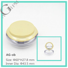 Special&Transparent Round Compact Powder Container AG-ob, AGPM Cosmetic Packaging, Custom colors/Logo
