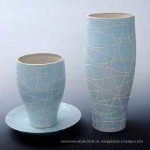 Menschlicher Marmor Geschnitzter Blumentopf Blumenvase für Garten (A1166)