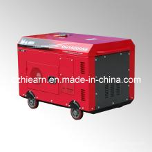 Luftgekühlter Zwei-Zylinder-Diesel-Generator Rote Farbe (DG15000SE)