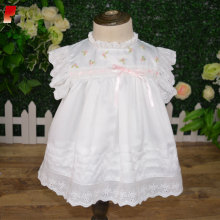 infant girls boutique white satin clothing set