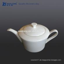 Glaze Bone China Eco-friendly Blank Weiße feine Keramik Teekanne