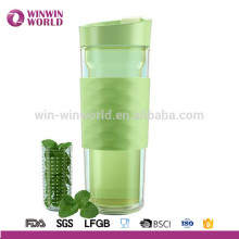 2017 New Arrival Double Wall Plastic Insulated Coffee Mug