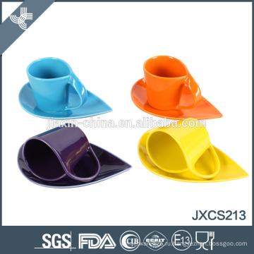 12 шт видов цветов хорошего качества моды керамические чашки кофе и блюдца набор