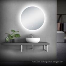 tocador de baño con espejo led de diseño moderno