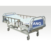 (A-47) Movable Three-Function Manual Hospital Bed with ABS Bed Head