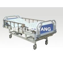 (A-47) Cama de hospital manual de três funções com cabeça de cama ABS