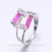 Dernières anneaux de mariage conceptions turque argent acheter à Istanbul en gros prix opale anneau de mode