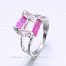 Os projetos os mais atrasados do anel de casamento Compra de prata turca no anel opal da forma do preço de grosso de Istambul