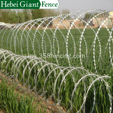 Keselamatan Dipped Hot Fencing Razor Barbed Wire Pagar