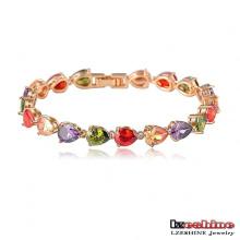 Bracelets de fiançailles féminins colorés en zircon Teardrop (CBR0018-C)