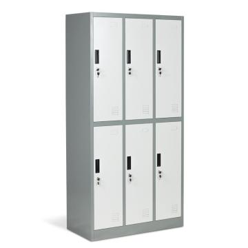 Metal 6 Doors Grey Lockers