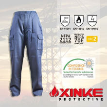 khaki cargo pants with a lot of pockets for industry use