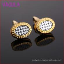 Мода золото Плакировкой шаблон доллара эллиптические Запонки L51928