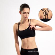 Deporte de estilo sin fisuras transpirable seco seco ropa cómoda sujetador de yoga