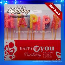 Velas calientes de la letra del feliz cumpleaños de la venta
