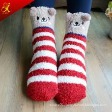 Pretty Pattern Ankle Fuzzy Socks for Girls