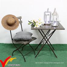 Antique Vintage Outdoor Garden Furniture Wooden Metal Folding Table Chair