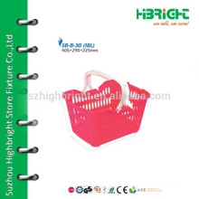 Pink Middle Shopping Basket With Handles