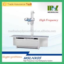 MSLHX05M 2016 Nouveau système de radiographie aux rayons X à haute fréquence Appareil à rayons X à haute fréquence