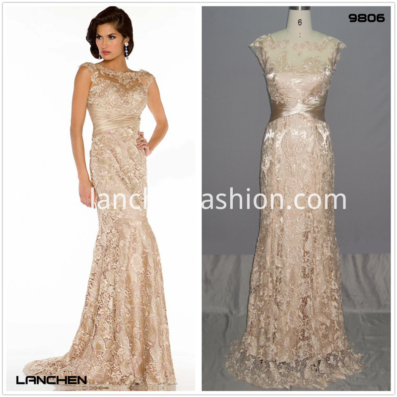 Cap Prom Lace Dress
