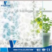 4mm-6mm de seda de detección de vidrio de arte decorativo con CE & ISO9001