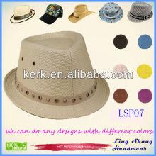 Newest Plain Panama 100% Natural Paper Straw hat panama top hats wholesale straw hats panama hats,LSP07