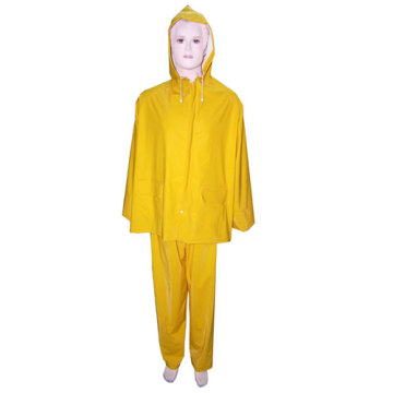 Womens vàng PVC Rainsuit