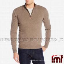 Men's 100% Cashmere Quarter-Zip Sweater