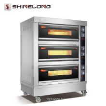 CE certificated ShineLong FBK-306DE commercial hotel kitchen equipment 3 Decks bakery gas oven