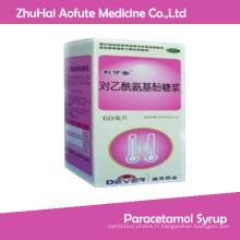 Sirop médicamenteux de paracétamol antipyrétique