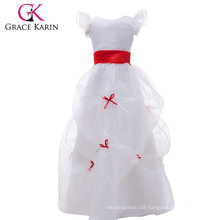 Grace Karin White Long Flower Girls Dress Latest Dress Designs For Flower Girls CL4488