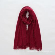 Écharpe de châle solide de laine de cercle de laine de Cachemire de sens des femmes (SP289)