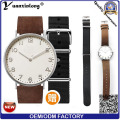 Yxl-747 Leather Wrist Watch for Wholesale Top Selling Fashion Welcome Genuine Leather Watch for Man and Woman