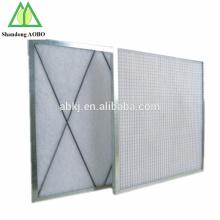 Aluminiumrahmen industrielle primäre gefaltete G3 G4 Luftfilter
