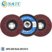 Disco de aleta de óxido de alumínio abrasivo econômico e eficiente para aço inoxidável
