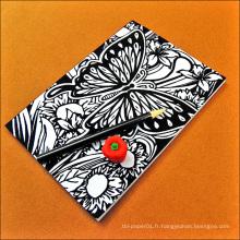 MWN-77 Cahier en papier recyclé personnalisé classique de qualité, carnet de notes noir