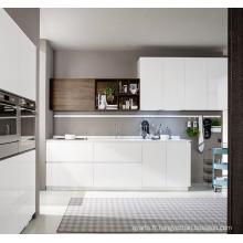 Cabinet de cuisine simple en laque MDF blanc