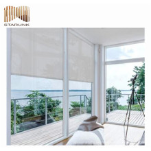 ventana al aire libre dobles telas de persiana enrollable