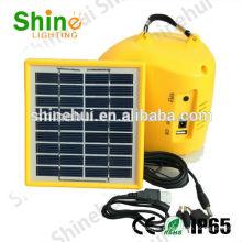 Libre de contaminación linterna de camping solar ultra brillante linternas llevadas compacto cargador de teléfono USB puerto