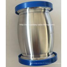Valve de retenue hygiénique de type à bille en acier inoxydable 38mm pour équipement à lait