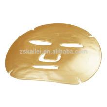Máscara de oro 24k Máscara facial de cristal de colágeno dorado