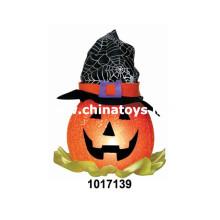 Halloween abóbora lâmpada com boné e luz Halloween decorativas (1017139)